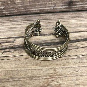 Vintage gold 10 bangle bracelet cuff